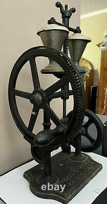 1900 Rare Antique Coles Mfg Cola Soda Shaker Milkshake Machine Cast Iron Sign