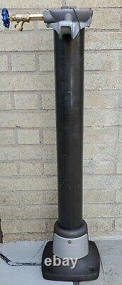 1940s-1950s ECO TIREFLATOR GAS STATION AIR METER CAST IRON PEDESTAL WITH WATER