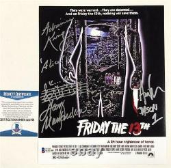 1980 Friday the 13th JASON cast signed 8x10 movie poster photo Beckett BAS COA