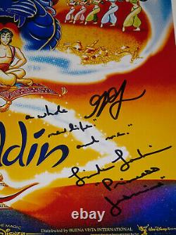 1992 Aladdin Disney Cast Signed Autographed X4 12x18 Photo Poster Weinger Larkin