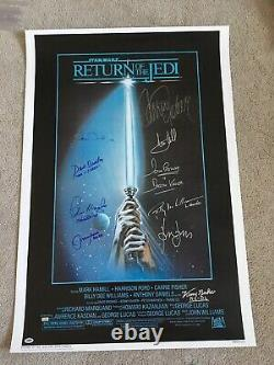 27x40 Cast Signed Autographed Star Wars RO Jedi Movie Poster PSA DNA