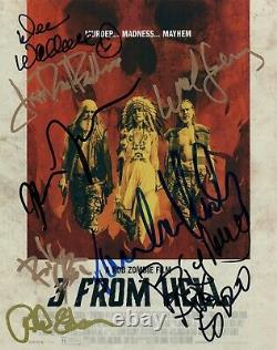 3 FROM HELL Cast Signed Autographed 8x10 Photo by 8 COA