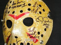 8X JASON VOORHEES Actors Cast Signed Hockey MASK Friday the 13th KANE HODDER ++
