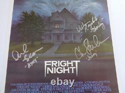 AUTOGRAPHED'Fright Night' (1985) (11x17) Movie Poster + COA