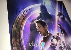AVENGERS INFINITY WAR Cast X4 Signed 12x18 Photo IN PERSON Autograph JSA COA