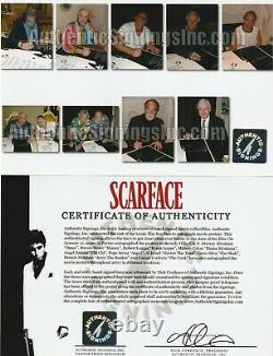 Al Pacino & SCARFACE Cast Autographed Movie Poster ASI Proof