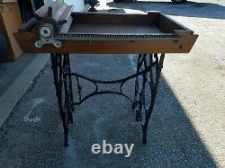 American Woodenware MFG Co Antique Wooden Cast Iron Hand Crank Butter Worker Box