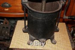 Antique Cast Iron Enterprise Mfg. Co. Sausage Stuffer Fruit Wine Press Large