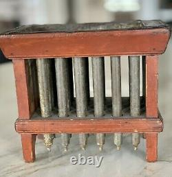 Antique Painted Wood Frame Candle Mold, 24 Tin Molds, Marked J. Walker 1800's
