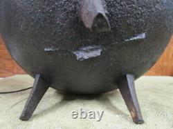 Antique Pocasset Signed Cast Iron Cauldron PotGate Marked