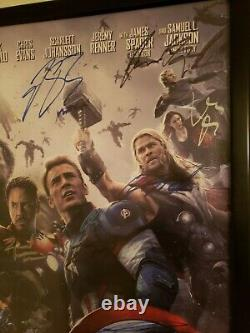 Avengers Age of Ultron Cast Signed (18) Premiere Movie Poster 40x27 Holo COA