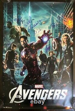 Avengers Cast Signed Poster. Hemsworth, Evans, Lee, Ruffalo, Renner, Hiddleston