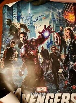 Avengers Cast Signed Poster With COAs