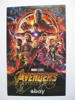 Avengers Infinity War Cast Signed 11x17 Photo Chadwick Boseman 9+ Dc/coa Proof