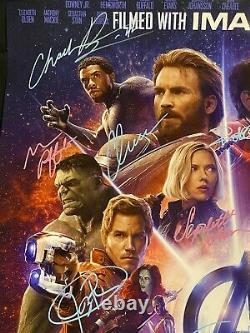 Avengers Infinity War Cast Signed Poster Stan Lee & Chadwick Boseman Auto COA