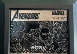 Avengers Movie Metal Art Signed By The Cast Only 25 Ever Produced RARE