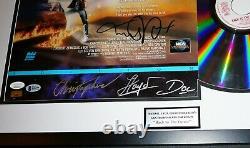BACK TO THE FUTURE FRAMED CAST SIGNED Michael J Fox Lloyd +2 LaserDisc Beckett