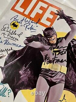 BATMAN LIFE MAGAZINE 1966 Cast Signed Adam West