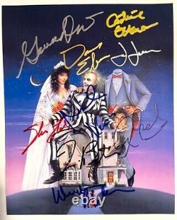 BEETLEJUICE photo cast signed by Michael Keaton Geena Davis Alec Baldwin auto