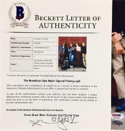 BREAKFAST CLUB Cast Signed 11x14 Photo BAS COA RINGWALD Sheedy ESTEVEZ Nelson