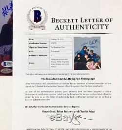 BREAKFAST CLUB Cast Signed 8x10 Photo BAS LOA RINGWALD Sheedy ESTEVEZ Nelson