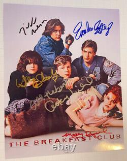 BREAKFAST CLUB photo cast signed by all 5 Molly Ringwald classic 80's auto withcoa