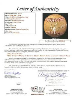 Babe Ruth & Gary Cooper Signed 1942 Lou Gehrig Pride Of The Yankees Cast Ball