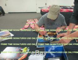 Back To The Future Cast Signed Guitar Michael J Fox Rare Inscriptions Auto Bas