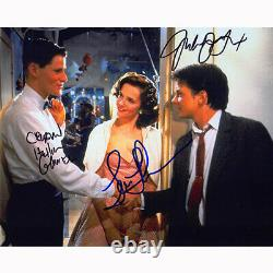 Back to the Future Cast by 3 (83667) Autographed In Person 8x10 with COA