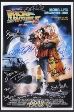 Back to the Future II 12X18 Cast Signed by Fox Lloyd and 10 Others ACOA