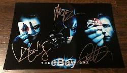 Batman The Dark Knight cast signed autographed 8x12 photo Heath Ledger Bale COA