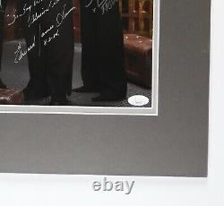 Battlestar Galactica Cast Edward James Olmos + signed autograph 11x14 photo JSA