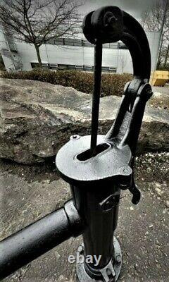 Beautiful Reclaimed Cast Iron Water Pump Original Garden Feature Signed N