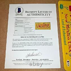 Better Call Saul Signed License Plate Lwyrup By 8 Cast Bob Odenkirk Beckett Coa