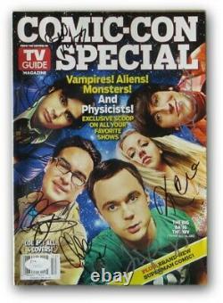 Big Bang Theory Cast Autographed Comic Con Magazine Parsons Cuoco Lorre 7 JSA