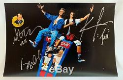 Bill and Ted's Excellent Adventure cast signed autographed photo Keanu Reeves