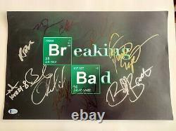 Breaking Bad Cast Signed X 11 12x18 Poster Autographed Odenkirk Ritter Giancarlo