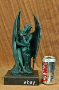 Bronze Mythical Signed Original Hot Cast Devil Lucifer Hand Crafted Sculpture