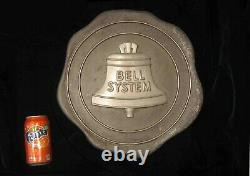 C1930s-1940s Cast/Machined Aluminum BELL SYSTEM Telephone OFFICE Building SIGN
