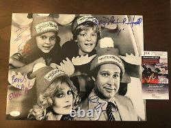 CHEVY CHASE D'ANGELO Hall Baron Cast Signed VACATION 11x14 Photo JSA # GG13922