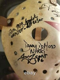 CJ Graham Cast Signed Jason Mask Friday the 13th Part 6 Darcy, Thom, Tom. Tommy