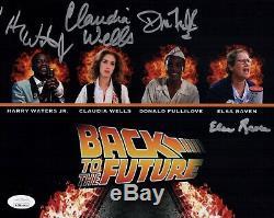 Claudia Wells Cast X4 Signed 8x10 Photo BACK TO THE FUTURE Autograph JSA COA WPP