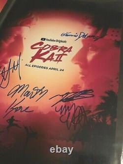Cobra Kai Cast Signed x7 Photo Poster Autograph William Zabka Martin Kove Rare