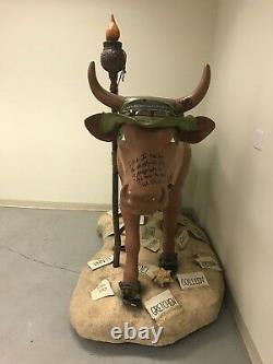 Cow Parade Nyc 2000 Survivor Original Life Size Signed Cast Richard Hatch Cbs