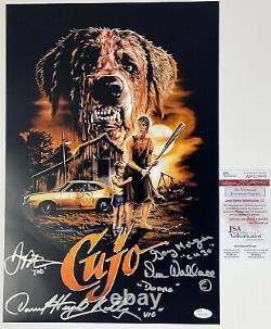 DANNY PINTAURO DEE WALLACE DANIEL HUGH KELLY signed 12x18 Poster CUJO Cast JSA