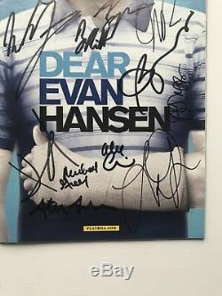 Dear Evan Hansen OBC Playbill SIGNED BY FULL OBC CAST AND CREATIVE VERY RARE
