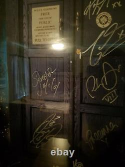 Doctor Who Cast Signed Poster. Capaldi Tennant Smith Baker McCoy Eccleston