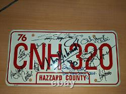 Dukes of Hazard License Plate Signed by Cast