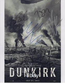 Dunkirk Signed Cast Photo 11x14 Christopher Nolan Harry Styles Autograph! Coa