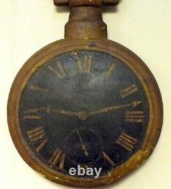 Early 19th Century Fusee Watch Clock Jewelry Repair Trade Sign Wood & Cast Iron